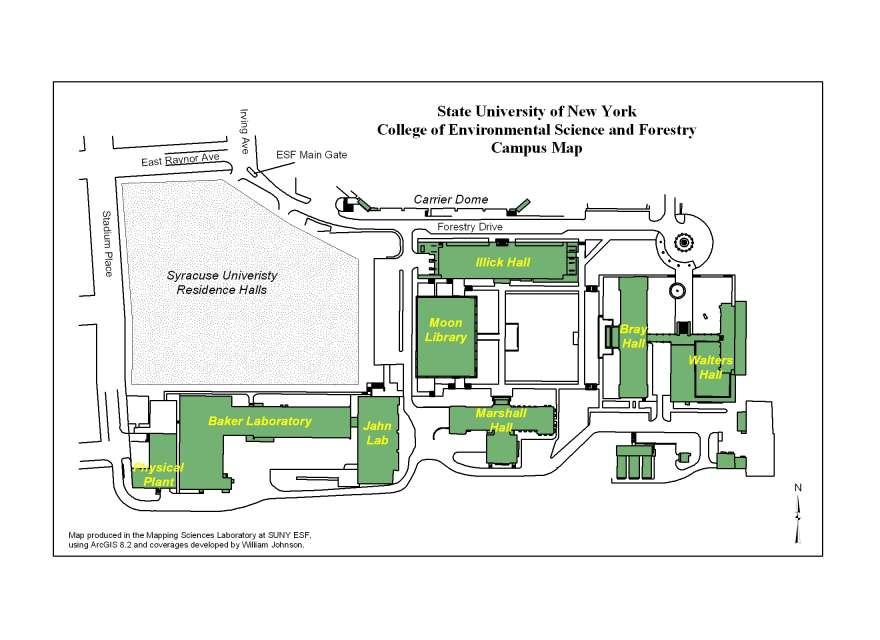 Suny Esf Campus Map.Important Offices On Campus Efb Grad Handbook